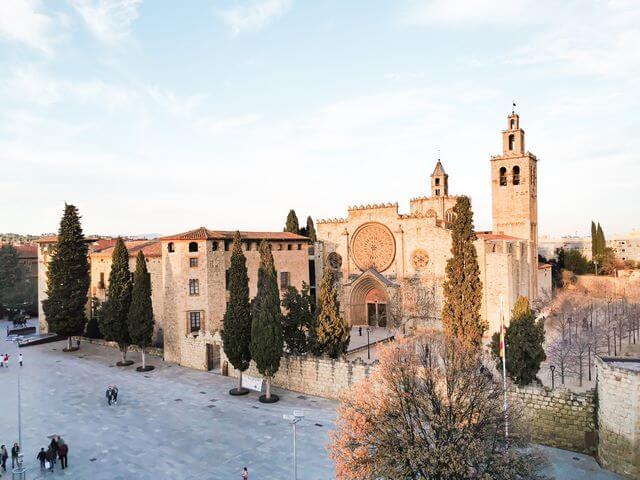 Vistas del Monasterio de Sant Cugat
