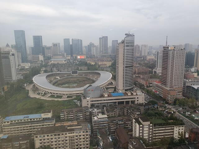 Vistas desde el hotel chengdu