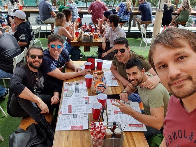 Dani con amigos en Las Vegas
