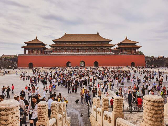 Ciudad Prohibida Pekin gente y gente