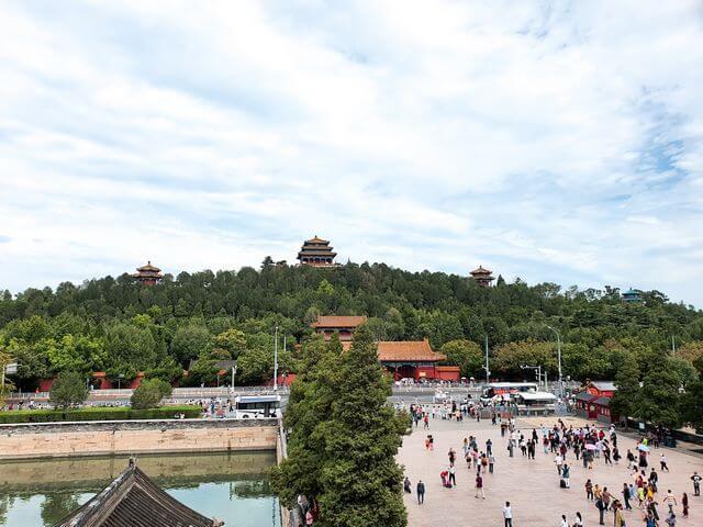 Parque Jingshan desde la Ciudad Prohibida Pekin