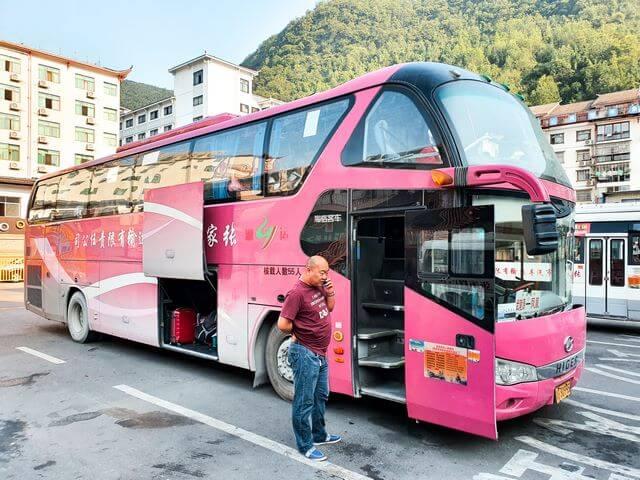 Autobus de Wulingyuan a Fenghuang