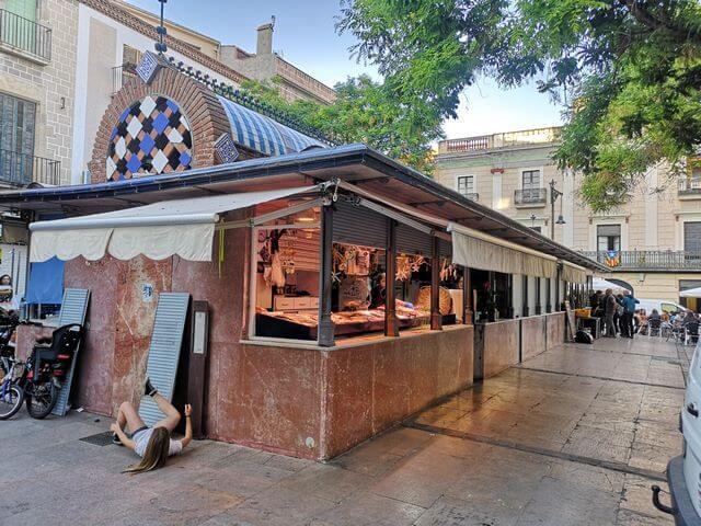 Mercado en el casco antiguo
