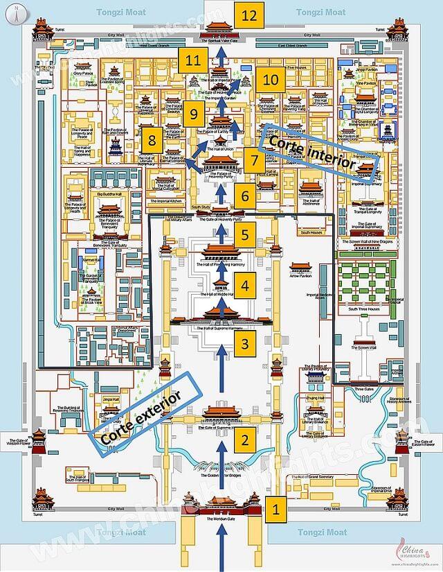 Plano de La Ciudad Prohibida