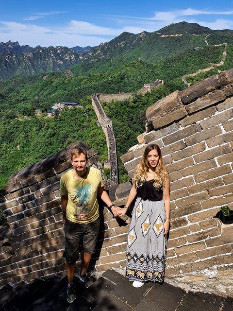 Judit y Dani Mutianyu Muralla China