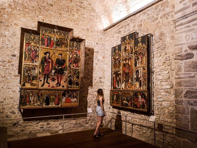 Retablos tablo de los santos Abdón y Senes Santa Maria Terrassa