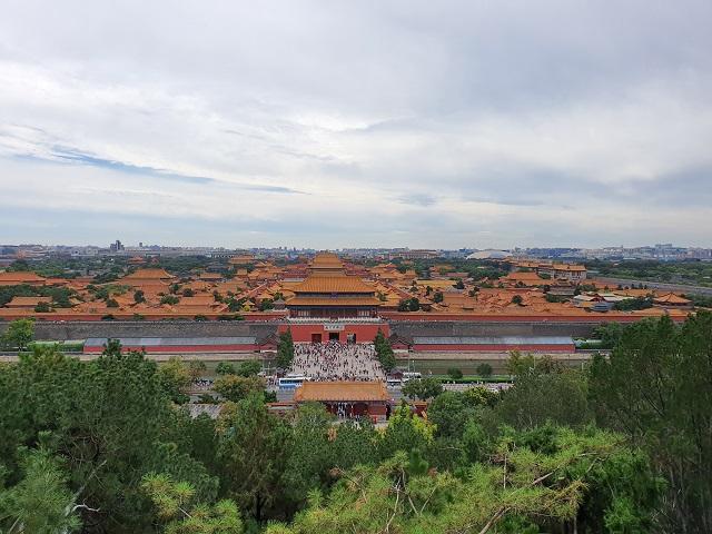 Vistas ciudad prohibida Pekin desde Parque Jingshan