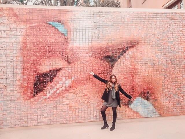 Mural del beso Barcelona