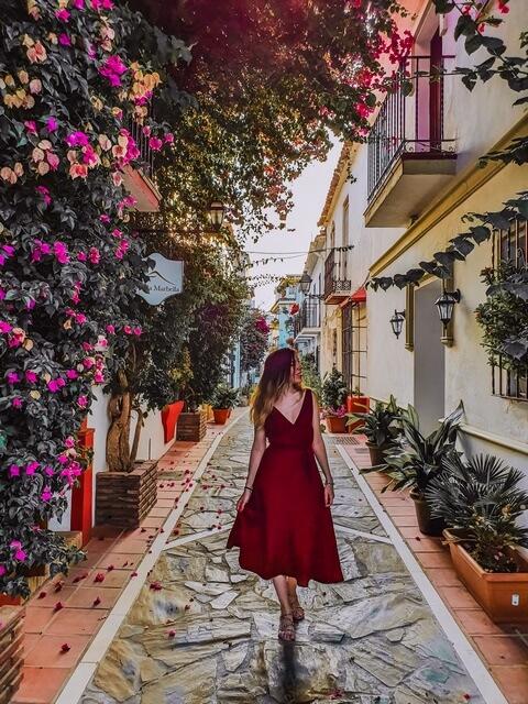 Visitando el centro de Marbella