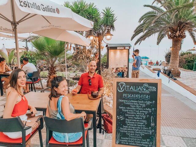 Cenando en Nerja: pizzeria Vitaliano Da Cristina