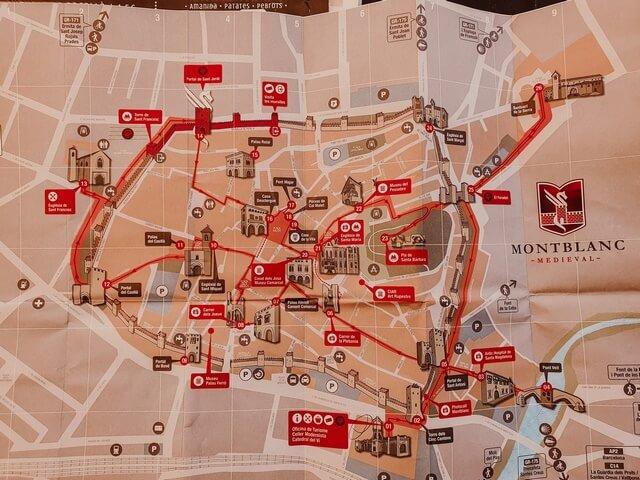 Mapa oficina turismo Montblanc