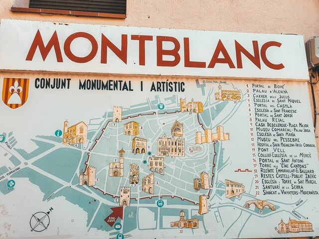 Mapa Montblanc