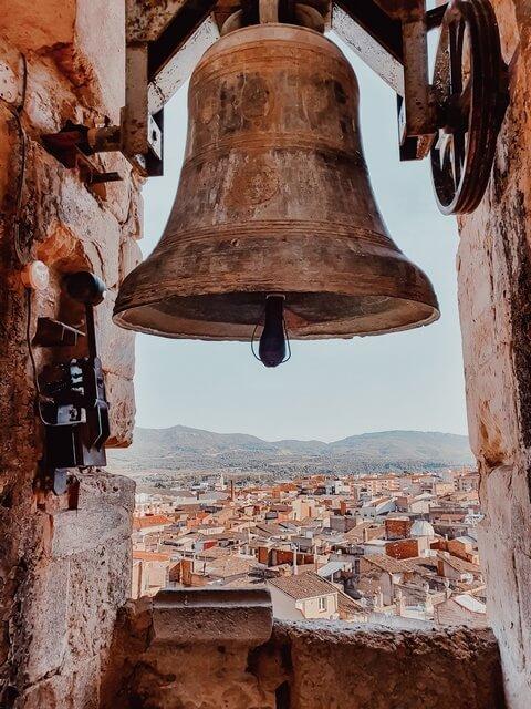 vistas campanario Iglesia de Santa Maria Montblanc