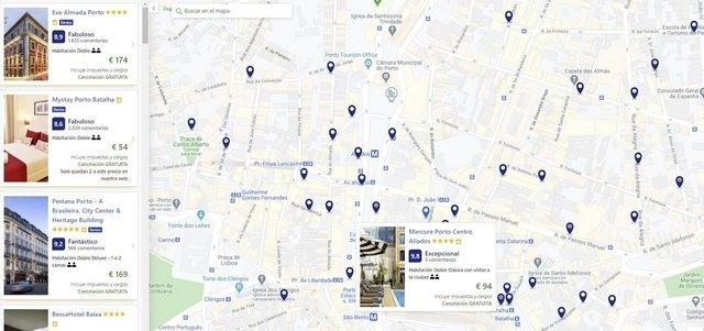 Hoteles centro de Oporto en 2 dias
