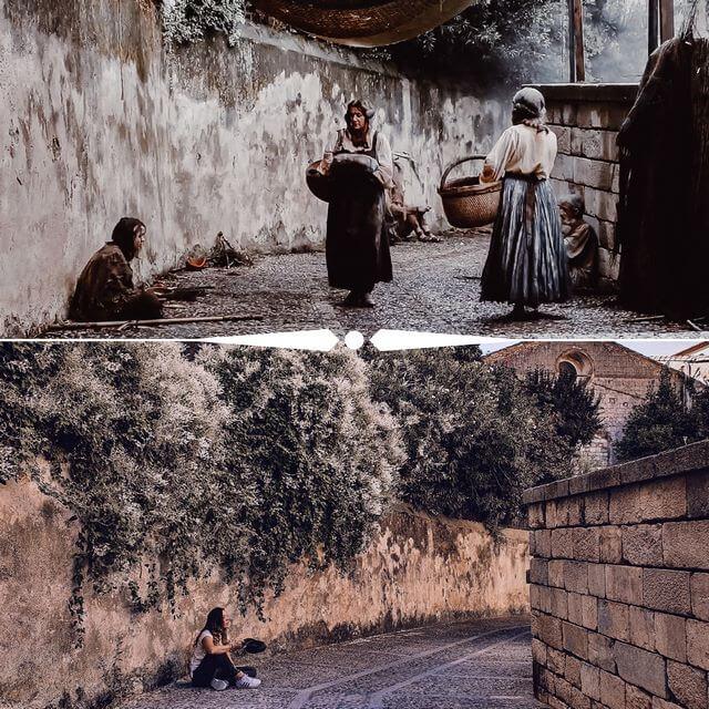 Calle Obispo José Cartañà - Arya mendigando