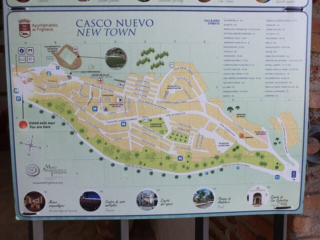 Mapa Casco Nuevo Frigiliana