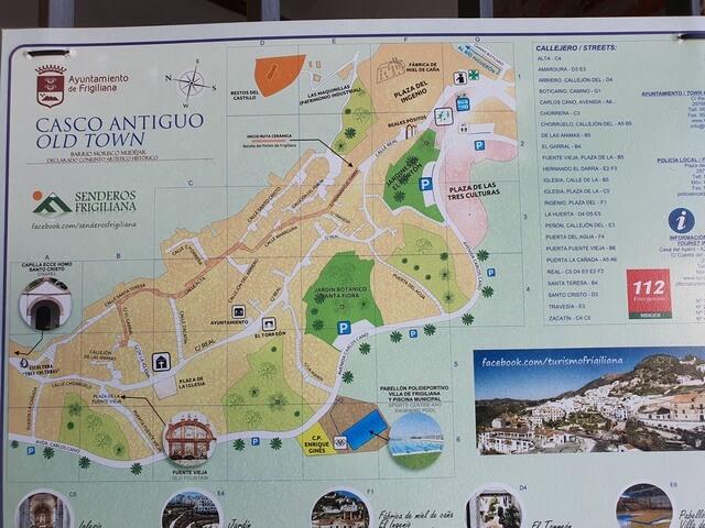 Mapa Casco viejo Frigiliana