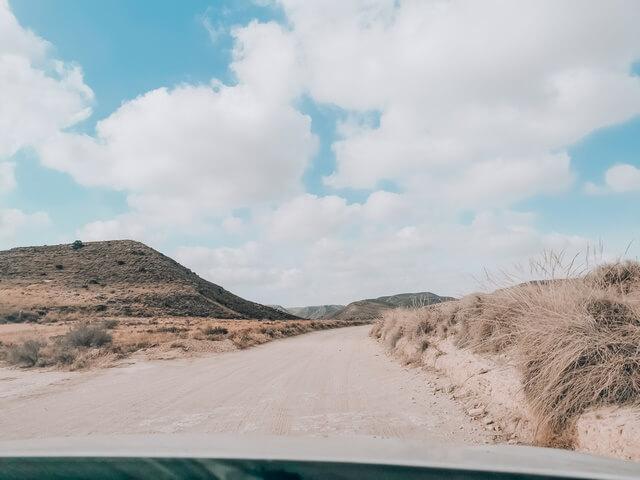 Camino a Cala Plomo en Coche