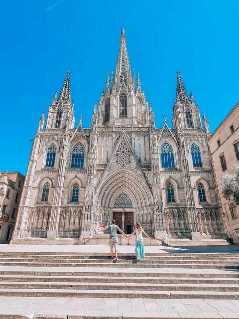 Catedral de Barcelona en el Barrio Gótico