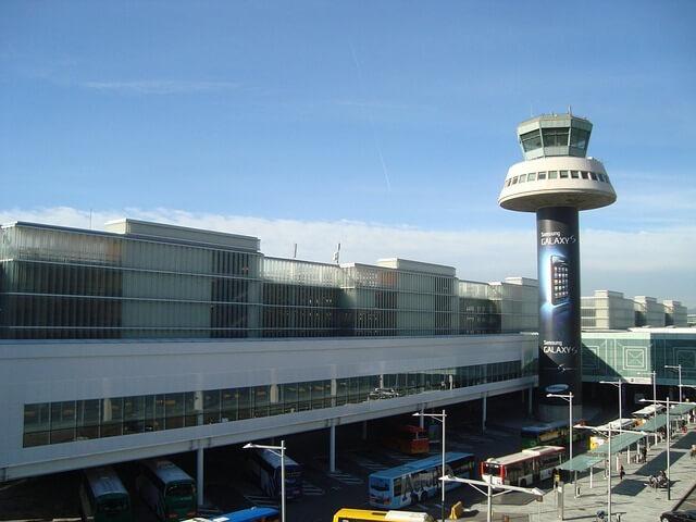 Aerobus en El Prat