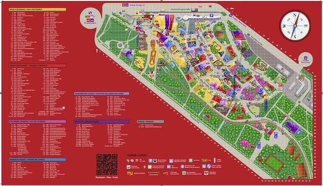 Plano atracciones Prater de Viena