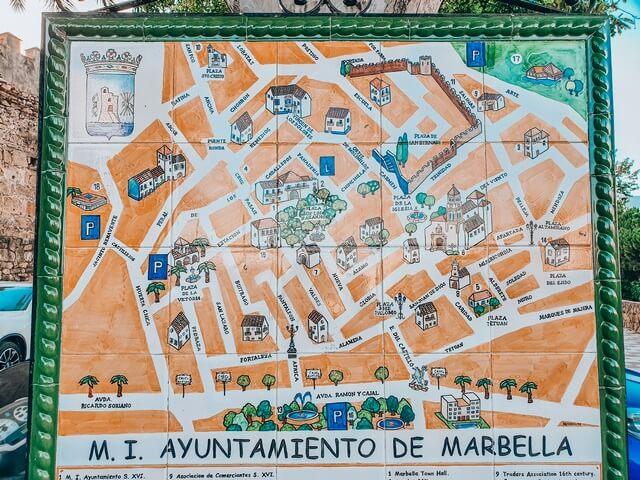Mapa Casco Antiguo Marbella