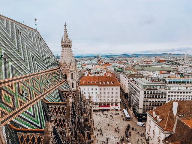 Tejados Catedral de San Esteban Viena