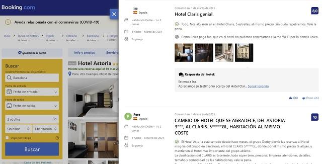 Comentarios Booking Hotel Astoria