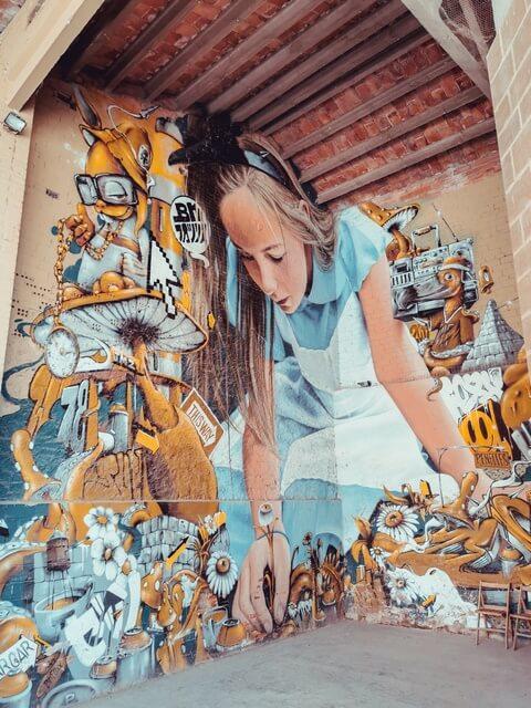 BK FOXX ZESO WF 2017 el mural de alicia en Penelles