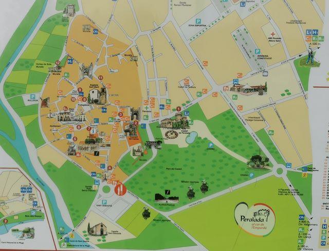 Mapa qué ver en Peralada