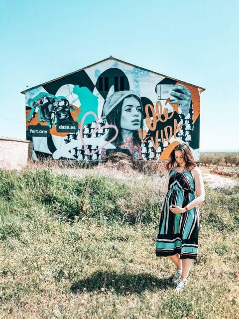 OLÉ LA VIDA 2019 el Mural de Dulceida en Penelles (2)