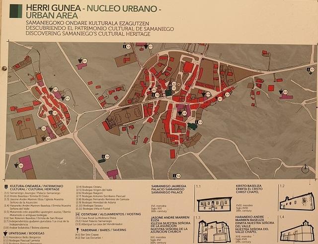 Mapa Samaniego