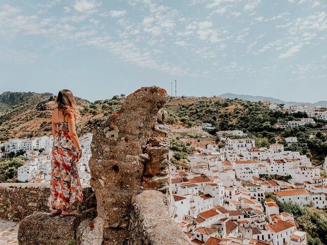Vistas de Casares desde su castillo