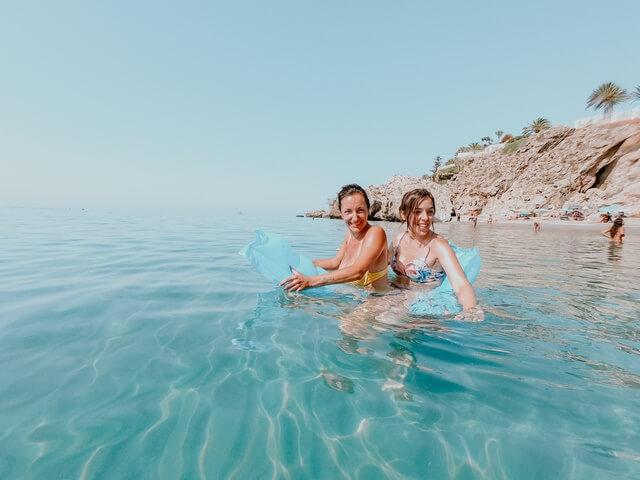 Disfrutando de las playas del Cabo de Gata